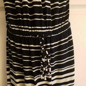 J. Crew Dresses - XXS J.Crew Strapless Striped Maxi Dress